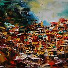 Manarola VII. Cinque Terre, Italy , original oil painting by andrassyp