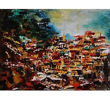 Manarola VII. Cinque Terre, Italy , original oil painting Photographic Print