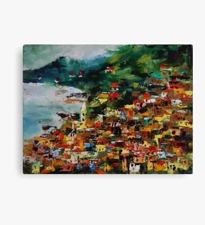 Monterosso, Cinque Terre, Italy, Europe, oil painting Canvas Print