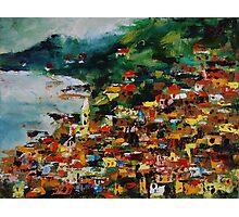 Monterosso, Cinque Terre, Italy, Europe, oil painting Photographic Print