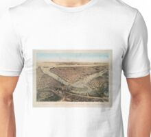 Vintage Pictorial Map of NYC and Brooklyn (1859) Unisex T-Shirt