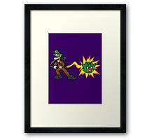Luigi's Boo-Busters Framed Print