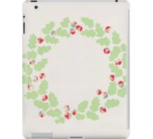 Holly wreath iPad Case/Skin