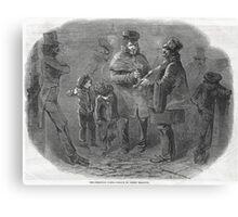 The Victorian Christmas Waits 1848 Canvas Print