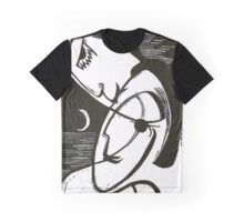 The Kiss At Moonlight With Ocean Graphic T-Shirt