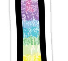 """Tie Dye """"I"""" Sticker"""