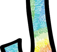 """Tie Dye """"J"""" by embati"""