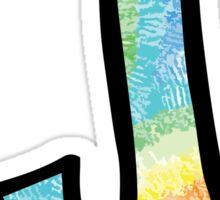 """Tie Dye """"J"""" Sticker"""