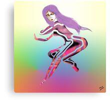 Violet Woman Canvas Print