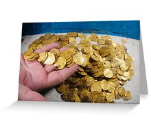 Scuba Divers uncover a hoard of 2000 gold coins from the Fatimid period  Greeting Card