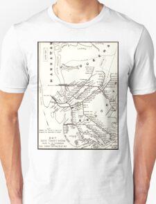 Vintage Brooklyn NY Transit System Map (1912) T-Shirt
