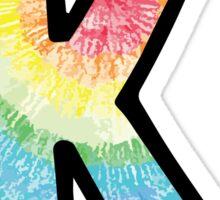 """Tie Dye """"K"""" Sticker"""