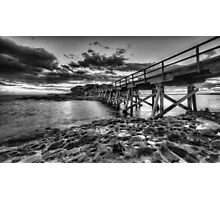 Bare Island - Black and White #1 Photographic Print