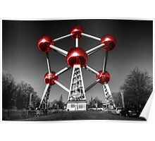 Red Atomium part deux Poster