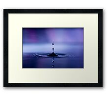 Fantasy Blue Drop Framed Print