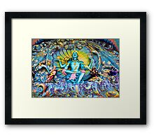 The Blue Temple Man Framed Print