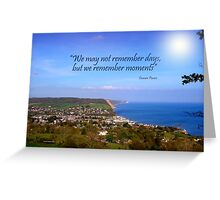 Overview of Sidmouth Greeting Card