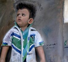 Painting of a Little Kid by Masaad Amoodi