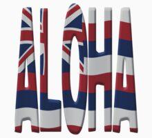Aloha + state flag Kids Clothes