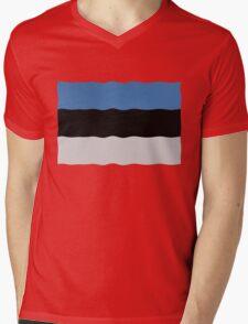 Estonian flag Mens V-Neck T-Shirt