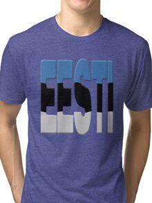 Estonian flag Tri-blend T-Shirt