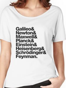 The Physicists List (dark type) Women's Relaxed Fit T-Shirt