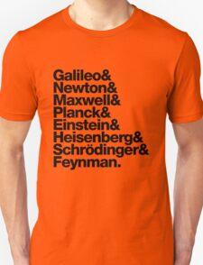 The Physicists List (dark type) T-Shirt