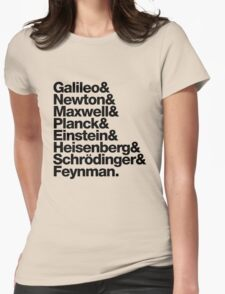 The Physicists List (dark type) Womens Fitted T-Shirt
