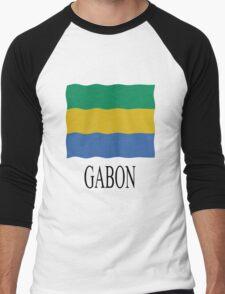 Gabon flag Men's Baseball ¾ T-Shirt
