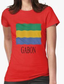 Gabon flag Womens Fitted T-Shirt