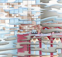 Waves reflecting buildings by Lyndsey Hale