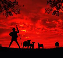 Red Sky In The Morning, Shepherds Take Warning by Rookwood Studio ©