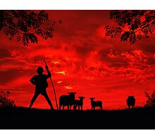 Red Sky In The Morning, Shepherds Take Warning Photographic Print