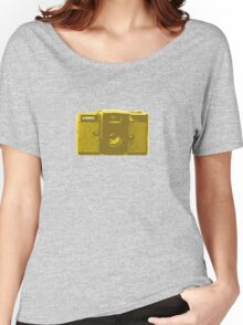 Lomo vintage camera pattern Women's Relaxed Fit T-Shirt