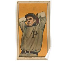 Benjamin K Edwards Collection Jimmy Lavender Providence Team baseball card portrait Poster