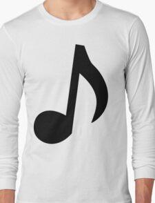 Black Musical Note Long Sleeve T-Shirt