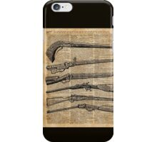 Vintage Weapons Antique Guns Dictionary Art iPhone Case/Skin