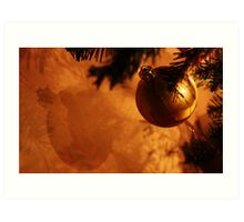 Bauble on the wall Art Print