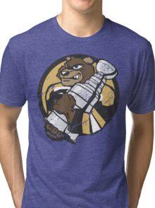 Boston Bruins - Champions! (distressed) Tri-blend T-Shirt