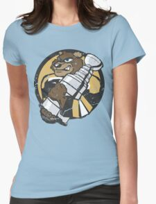 Boston Bruins - Champions! (distressed) Womens Fitted T-Shirt