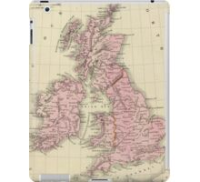 Vintage Map of The British Isles (1864) iPad Case/Skin