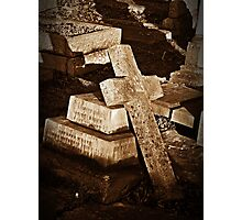 The cross that fell.. Photographic Print