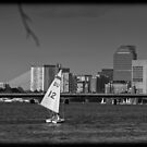 Boat view of east Boston  by apsjphotography