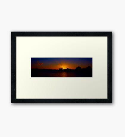 Sunset excess Framed Print