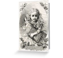 Victorian Child Christmas Presents 1862 Greeting Card