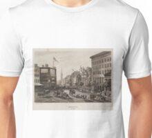 Vintage Broadway NYC Illustration (1840) Unisex T-Shirt