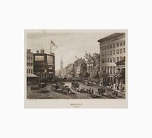 Vintage Broadway NYC Illustration (1840) Unisex T-Shirt