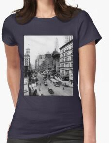 Vintage Broadway NYC Photograph (1920) Womens Fitted T-Shirt