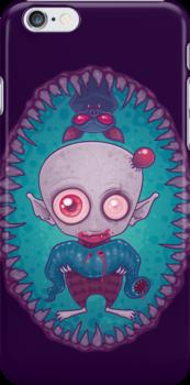 Nosferatu Jr. iPhone Case by fizzgig