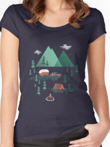 Gone Camping Women's Fitted Scoop T-Shirt
